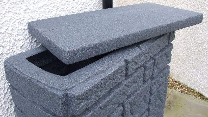 Maurano Stone Effect Water Butt charcoal