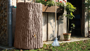 Evergreen Tree Trunk Water Butt – 475 Litres - Freeflush Rainwater Harvesting Ltd.