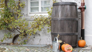 Burgundy Barrel Water Butt – 500 Litres - Freeflush Rainwater Harvesting Ltd.