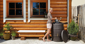 Barrica rain water barrel water butt -260 and 420 litre capacity - Freeflush Rainwater Harvesting Ltd.