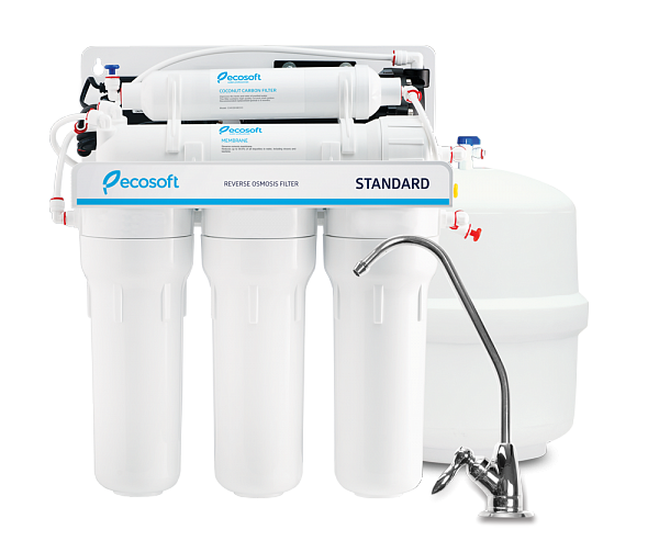 Ecosoft Domestic Reverse Osmosis Water Filter with optional Pump