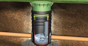 SuDS drainage Choke Drain Shaft - Freeflush Rainwater Harvesting Ltd.