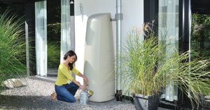 Elegant 400l modern water butt including free tap - Freeflush Rainwater Harvesting Ltd.