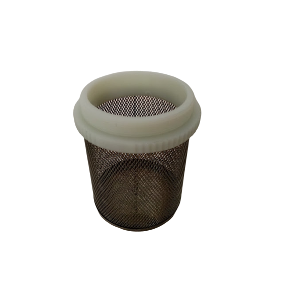 IBC coarse mesh inlet lid filter with threaded collar