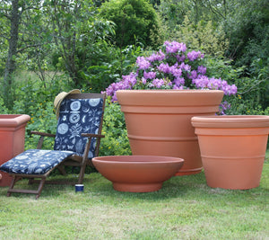500 litre Prestige extra large terracotta style pot planter - Freeflush Rainwater Harvesting Ltd.