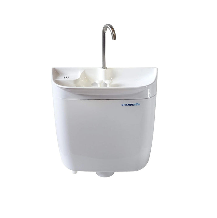 GrandeSys (AquaDue) Toilet cistern with integrated sink