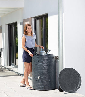 Muro 260 litre stone effect water butt - free tap! - Freeflush Rainwater Harvesting Ltd.