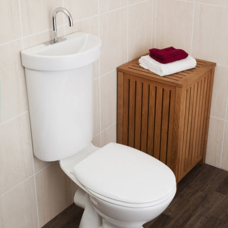 Caroma Profile 5 Integrated Toilet suite and hand basin