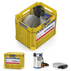 Plug & Drain Sumbersible Flood Pump– Emergency Kit for draining floodwater