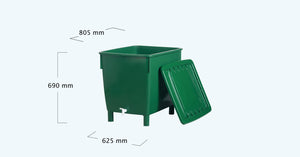 Square water butt Heavy version 200, 300 and 500 litre - Freeflush Rainwater Harvesting Ltd.