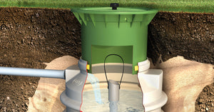 Spring water shaft - Freeflush Rainwater Harvesting Ltd.