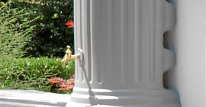 Stone Column effect slim (wall) water butt - 500 litre - Freeflush Rainwater Harvesting Ltd.