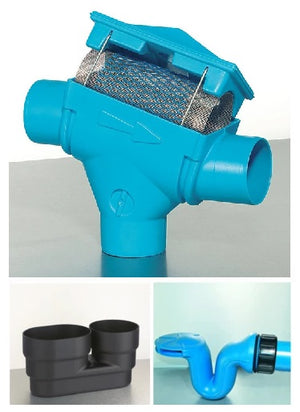 Commercial Rainwater Harvesting Filter -  1 stage -110mm - PF-200m2 - Freeflush Rainwater Harvesting Ltd.