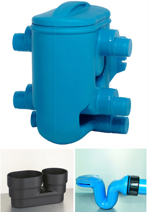 Commercial Rainwater Harvesting Filter - 2 stage - 110-160mm TF - 800m2 - Freeflush Rainwater Harvesting Ltd.