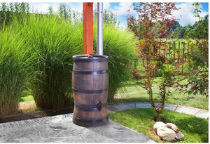 Rain Barrel - Oak Effect - 50L, 120L, 240L, 350L - Freeflush Rainwater Harvesting Ltd.