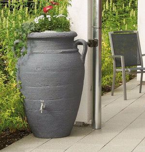 Antique amphora terracotta vase water butt, 250, 360 and 600 litre capacity