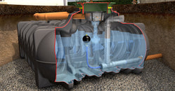 10,000 litre SuDS Rainwater Attenuation Tank - Freeflush Rainwater Harvesting Ltd.