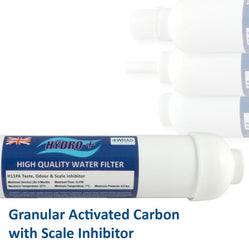 Hydro+ Gac Inline Water Filters With Scale Inhibitor - Freeflush Rainwater Harvesting Ltd.