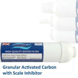 Hydro+ Gac Inline Water Filters With Scale Inhibitor