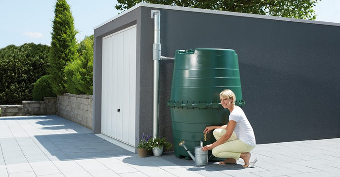 Colossus+ Large water butt tank 1300 litre capacity with optional diverter and tap