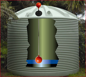 Visible ball rain water and tank level indicator - Freeflush Rainwater Harvesting Ltd.