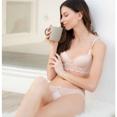 Bikini in Dusty Pink Spotted Tulle