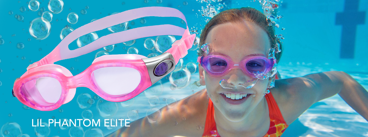 Kids swim goggles little girls pink swim goggle