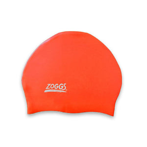 zoogs swimming Stretch Fit Cap orange swim caps for kids Triathlons