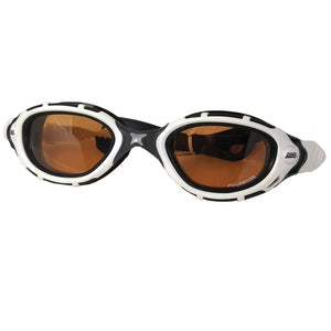 best triathlon swim goggles white and black