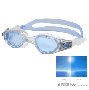 Zoggs USA  Phantom Elite clear, swimming goggles, swim goggle,  clear blue swim goggles, men swim googles, woman swim googles,discounted swim goggles, cheap swim goggles