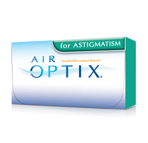 Alcon Air Optix Aqua for Astigmatism (SPH Power: -6.50 to -9.00D with Cyl: -1.25 & -1.75)