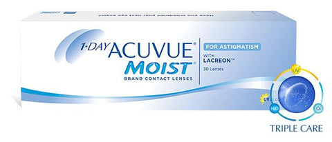 1 Day Acuvue Moist for Astigmatism Myopia [-] (Cyl: -0.75D, -1.25D, -1.75D)