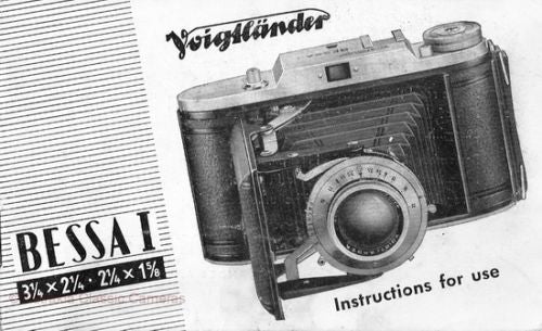 26 Voigtlander / Voigtländer manuals + 224 photos very good quality. PFDs DOWNLOAD! - Voigtlander- Petrakla Classic Cameras