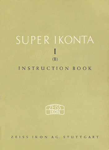 Super Ikonta I (B) Instruction book (Stuttgart). PDF DOWNLOAD!