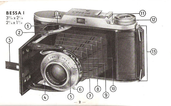 Voigtlander Bessa I Instruction book (original). Free Shipping! - Voigtlander- Petrakla Classic Cameras