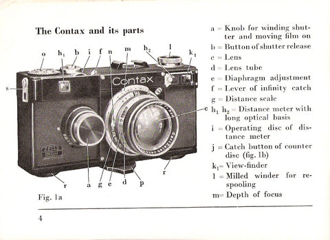 Instructions for Contax I 1935, English, PDF DOWNLOAD!