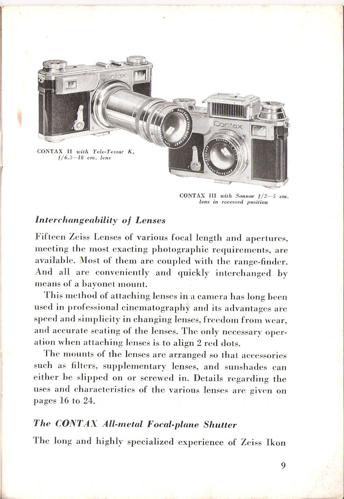 Contax with Zeiss Lenses (English) PDF DOWNLOAD!