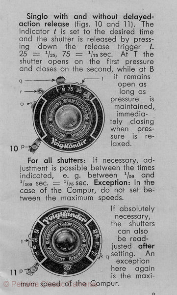 Voigtlander Bessa with optical finder, Instructions for use. PDF DOWNLOAD! - Voigtlander- Petrakla Classic Cameras