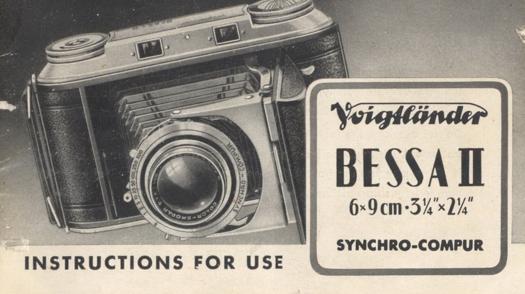Voigtlander Bessa II Instruction book. PDF DOWNLOAD! - Voigtlander- Petrakla Classic Cameras