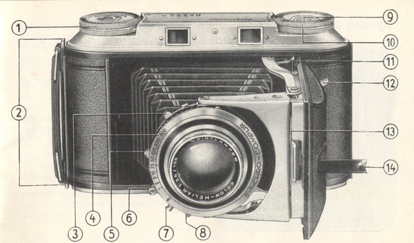 Voigtlander Bessa II Instruction book (original). Free Shipping! - Voigtlander- Petrakla Classic Cameras