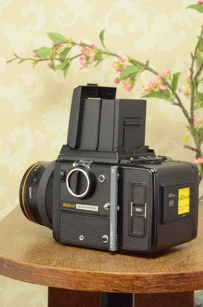 MINT! 6x6 Zenza Bronica SQ-A, complete with 80mm lens & 120 film back.
