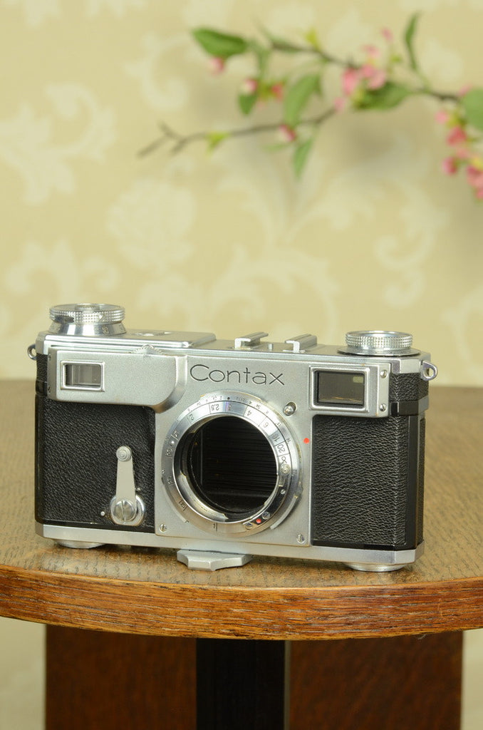 EXCELLENT! 1936 Zeiss Ikon Contax II, CLA'd, with Original leather case. Freshly Serviced!