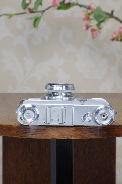 SUPERB! 1939 Zeiss Ikon Contax II, with original case, Freshly Serviced! - Zeiss-Ikon- Petrakla Classic Cameras
