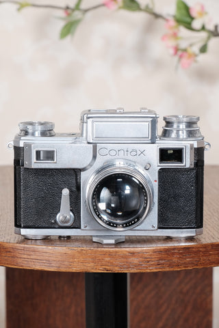 RARE! 1941 German Navy Zeiss-Ikon Contax Camera, Freshly Serviced - Zeiss-Ikon- Petrakla Classic Cameras