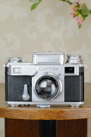 Near mint, 1938 Zeiss Ikon Contax, CLA'd, Freshly Serviced!