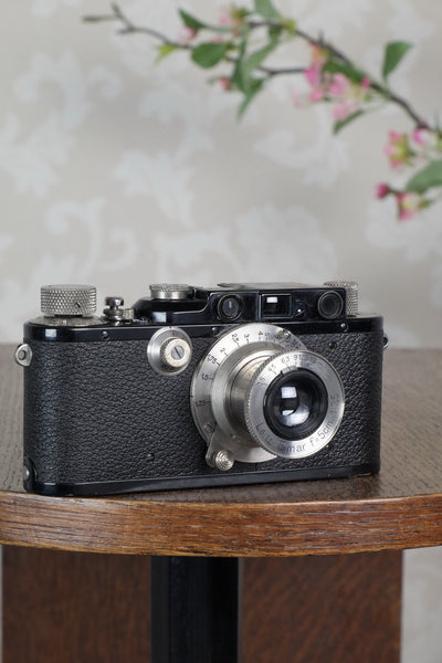 SUPERB! 1936 Black Leitz Leica III with Nickel Elmar lens, CLA'd, Freshly Serviced! - Leitz- Petrakla Classic Cameras