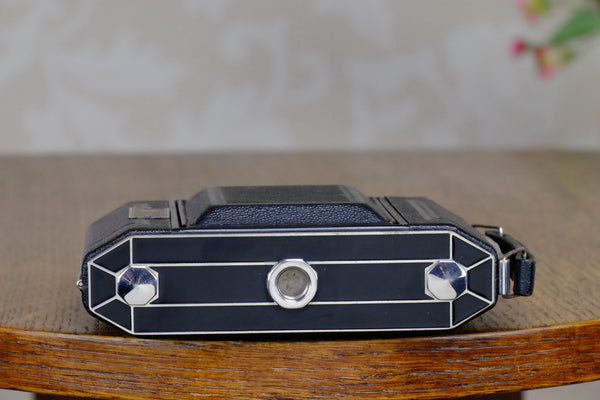 Superb! 1935 Art-deco 6x4.5 Duo camera, with Zeiss Tessar lens, CLA'd, Freshly Serviced!