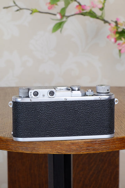 Superb! 1934 Leitz Leica III with 3.5/50mm Leitz Elmar lens, CLA'd, Freshly Serviced! - Leitz- Petrakla Classic Cameras