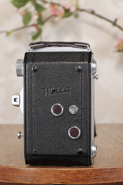 "Welta Weltax 6x6 Folder, ""T"" Coated Carl Zeiss Tessar lens, CLAd, Freshly Serviced!"
