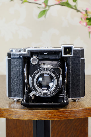 SUPERB! 1938 Zeiss Ikon Super Ikonta B 6x6, Tessar lens,  CLA'd, Freshly Serviced!